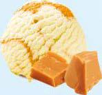 Înghețată caramel și sos de caramel