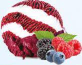 Înghețată de mascarpone și paste de fructe de pădure